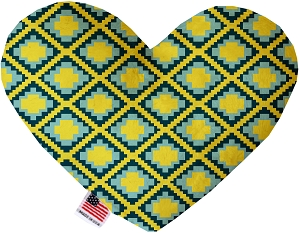 Yellow Southwest 8 inch Heart Dog Toy